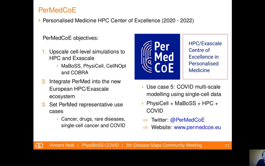 PerMedCoE was presented at DMCM2020