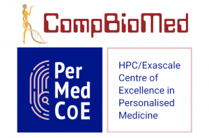 CompBioMed and PerMedCoE logos